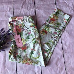Ted Baker girls floral skinny jeans size 14